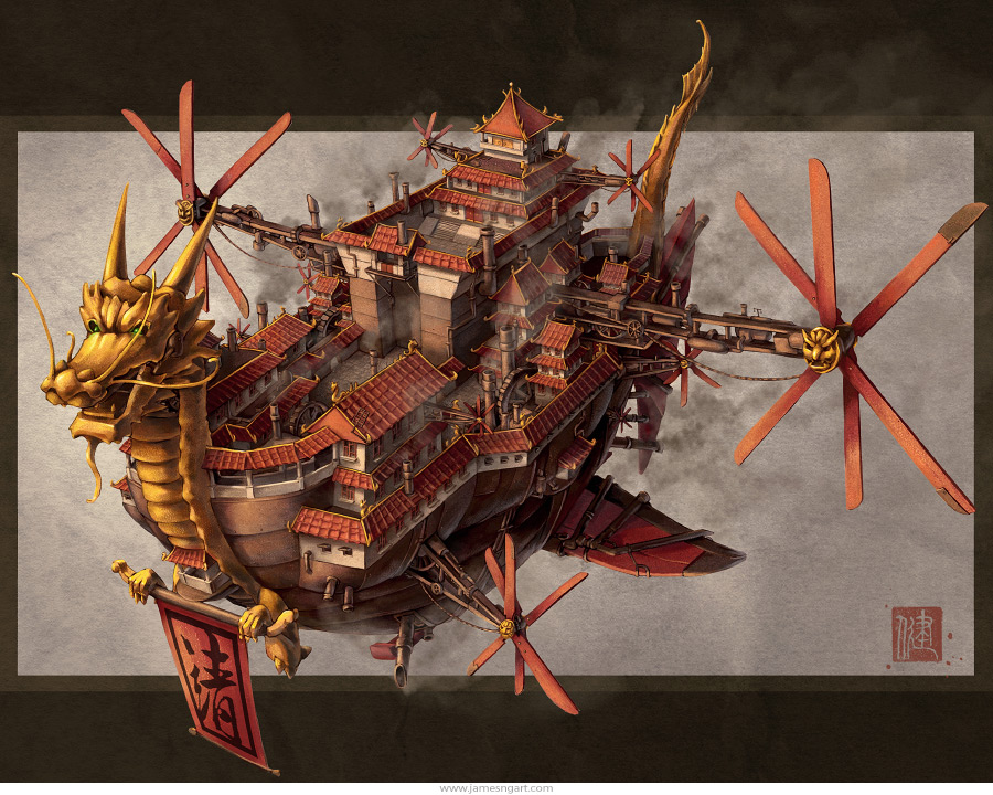 [L'artiste du mois] James Ng et son Steampunk asiatique